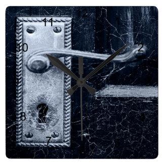 Vintager Tür-Griff Quadratische Wanduhr