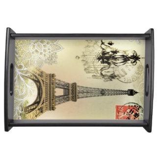 Vintager Turm Paris Eiffel der Serviertablett