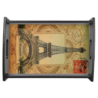 Vintager Turm Paris Eiffel des modernen girly Tablett