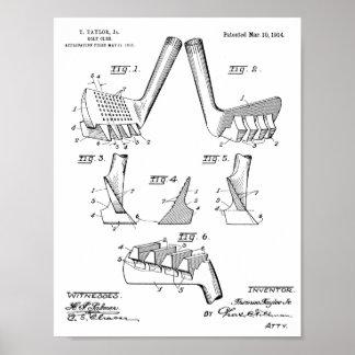 Vintager Verein-Geschmacksmuster-Kunst-Druck des Poster
