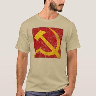 Vintager verwitterter sowjetischer Hammer-und T-Shirt