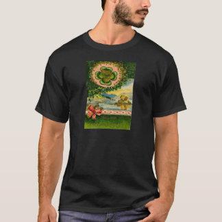 Vintager vierblättriges Kleeblatt Kleeblatt-St T-Shirt