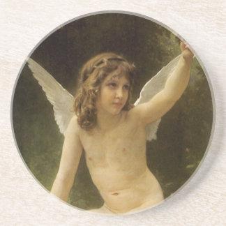 Vintager viktorianischer Engel, Gefangener durch Getränkeuntersetzer