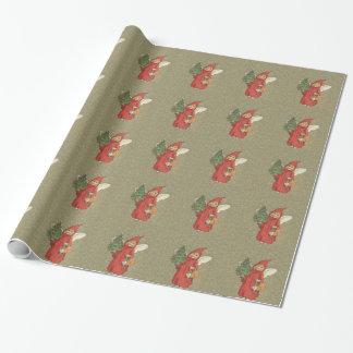 Vintager viktorianischer roter geschenkpapier