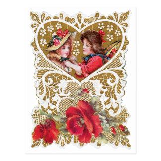 Vintager viktorianischer Valentine Postkarte