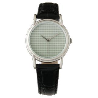 Vintager WaldOmbre Gingham Uhr