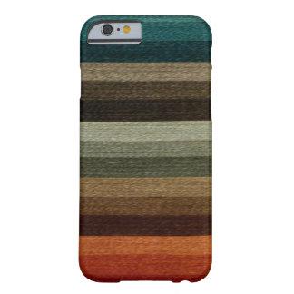 Vintager warmer Herbst-gestreiftes Muster, Erdtöne Barely There iPhone 6 Hülle