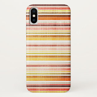 Vintager warmer Herbst Stripes Muster iPhone X Hülle