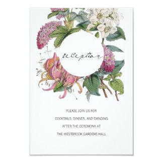 Vintager Watercolor-Blumenkunst-Hochzeit 8,9 X 12,7 Cm Einladungskarte