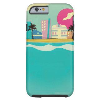 Vintages Achtzigerjahre Miami-Plakat Tough iPhone 6 Hülle