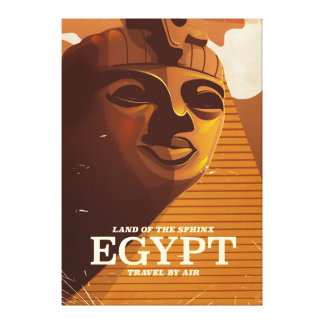 Vintages ägyptisches Ferienplakat Gespannte Galerie Drucke
