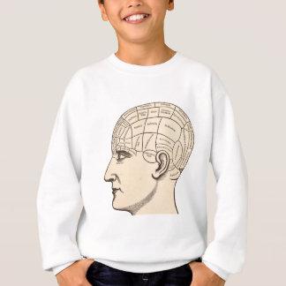 Vintages Anatomie-Gehirn-Karten-Bild Sweatshirt
