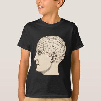 Vintages Anatomie-Gehirn-Karten-Bild T-Shirt
