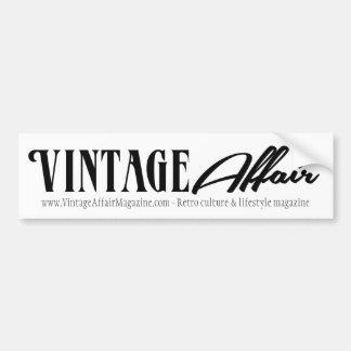 Vintages Angelegenheits-Weiß Autoaufkleber