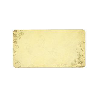 Vintages antikes Blick-Hochzeits-Adressen-Etikett Adressaufkleber