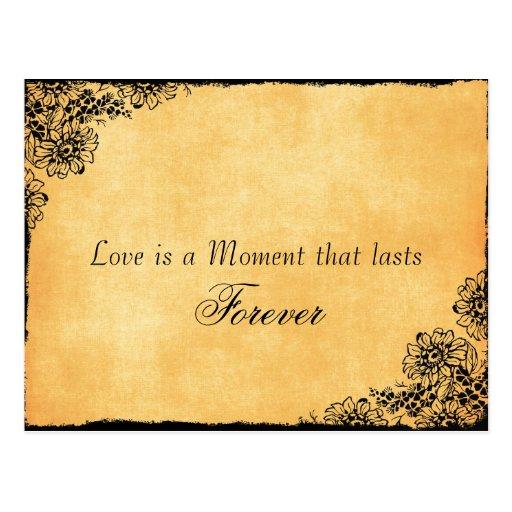 Vintages Art-Liebe-Zitat Save the Date Postkarten