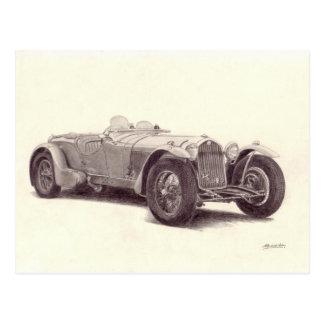 Vintages Auto: Alpharomeo 8C Postkarte