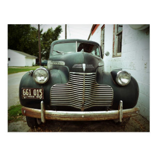 Vintages Auto auf Weg 66 Postkarte