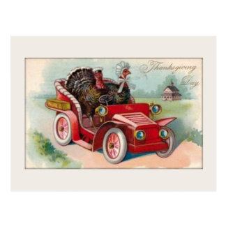 Vintages Auto/die Türkei-Erntedank-Karte Postkarte