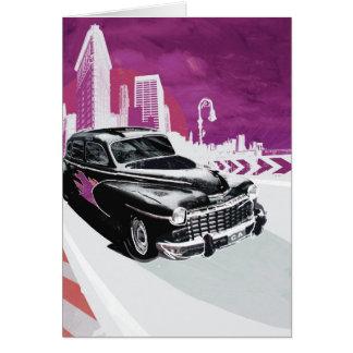 Vintages Auto Grußkarte
