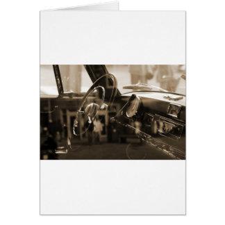 Vintages Auto Karte