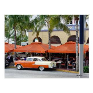 Vintages Auto-Südstrand Florida Postkarte