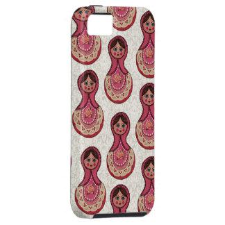 Vintages Babushka Verschachtelungs-Puppen iPhone 5 Etuis