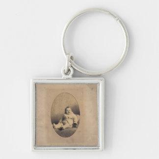 Vintages Babybild Schlüsselanhänger