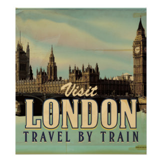Vintages Besuchs-London-Plakat Poster