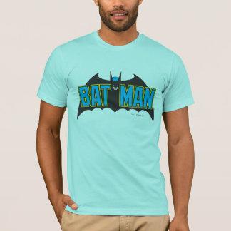 Vintages blaues Schwarz-Logo des Batman-| T-Shirt