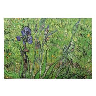 Vintages Blumen, Iris durch Vincent van Gogh Tischset