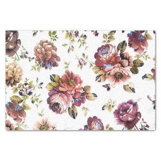 Vintages Blumenmuster-Seidenpapier Seidenpapier