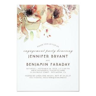 Vintages Blumenwatercolors-Fall-Verlobungs-Party Karte