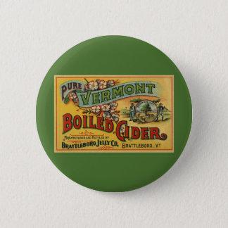 Vintages Brattleboro Gelee gekochter Apfelwein Runder Button 5,7 Cm