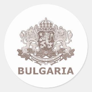 Vintages Bulgarien Runder Aufkleber