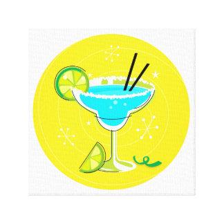 Vintages Cocktail in den hellen Farben Gespannte Galerie Drucke
