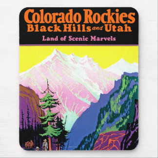 Vintages Colorado ~ Land der landschaftlichen Mousepad