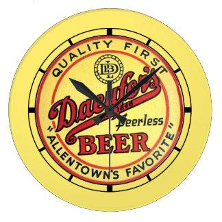 Vintages Daeufers Bier Große Wanduhr