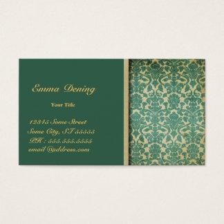 Vintages Damast-Grün Visitenkarten
