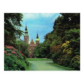 Vintages Dänemark, Kopenhagen, Rosenburg Schloss Postkarte