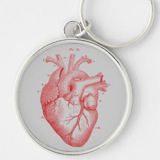 Vintages Druck-rotes anatomisches Schlüsselanhänger