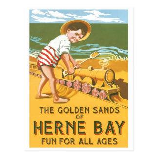 Vintages Englisch-Reise-Plakat Postkarte