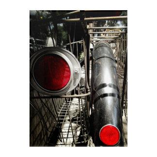 Vintages Fahrrad-rote Acrylwand Acryl Wandkunst