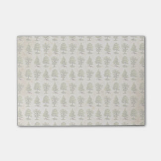 Vintages Feiertags-Baum-Muster Post-it Klebezettel