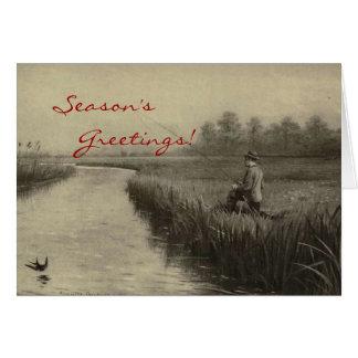 Vintages Fischen-Weihnachten Karten