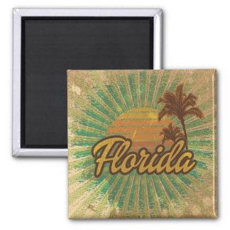 Vintages Florida Quadratischer Magnet