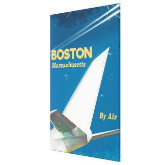 Vintages Flugplakat Bostons Massachusetts Leinwanddruck