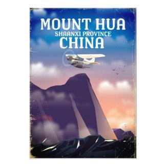 Vintages Flugplakat das Hua Shan China Fotodruck