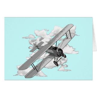 Vintages Flugzeug Grußkarte