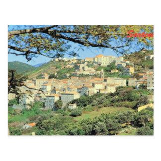 Vintages Frankreich Korsika, Sartene, Gipfelstadt Postkarte